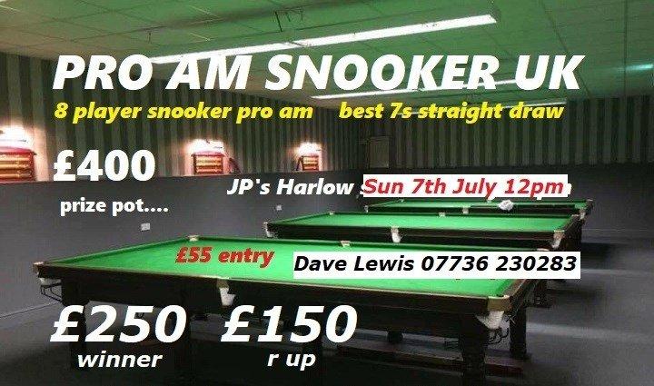 JPs 8 player best 7s Snooker Pro-Am