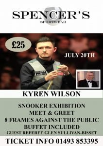 Kyren Wilson at Spencer's Sports Bar