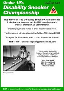 Under 19s Disability Snooker Championship 2019