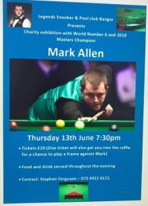 Mark Allen at Legends Snooker and Pool Club