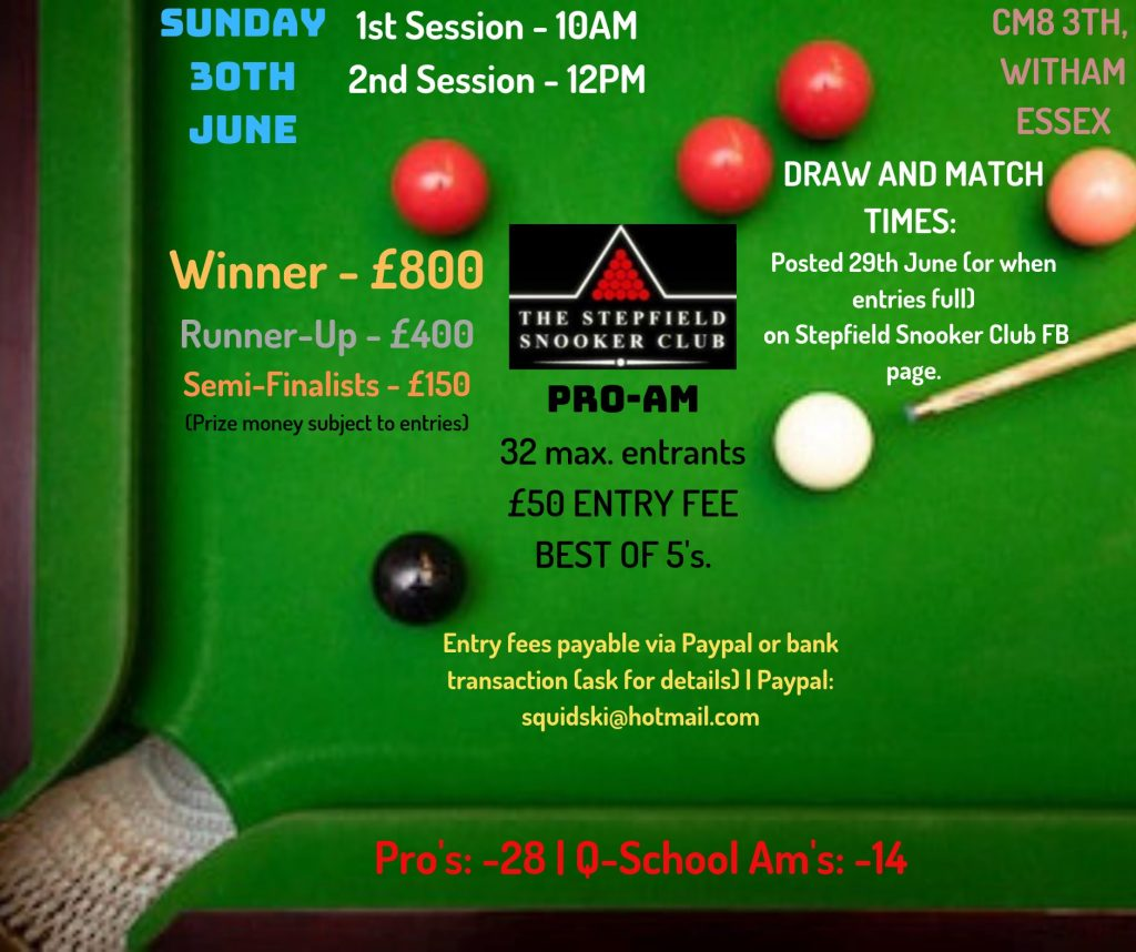 Stepfield Snooker Club Pro-Am