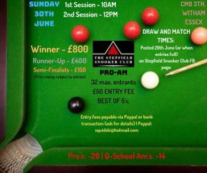 Stepfield Snooker Club Pro-Am