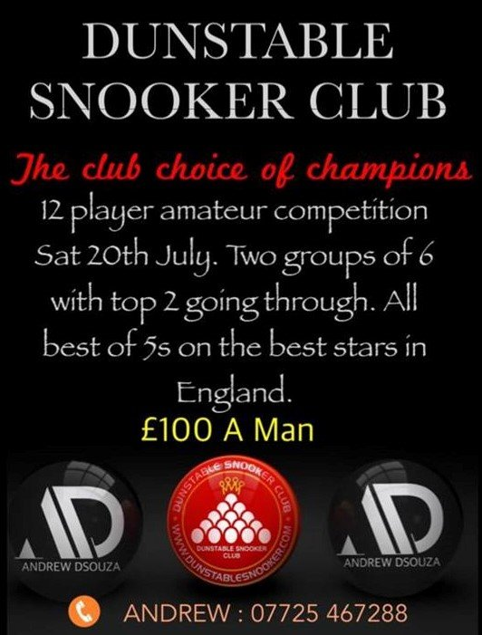 Snooker Competition at Dunstable Snooker Club