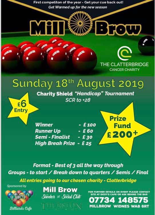 Mill Brow Charity Shield Handicap Tournament