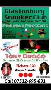 Tony Drago at Glastonbury Snooker Club