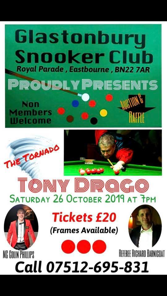Tony Drago at Glastonbury Snooker Club