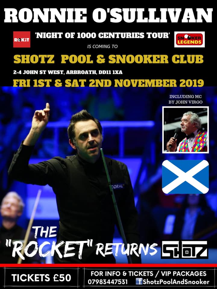 Ronnie O'Sullivan at Shotz Pool and Snooker Club