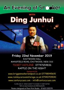 Ding Junhui at Eastwood Hall Mansfield