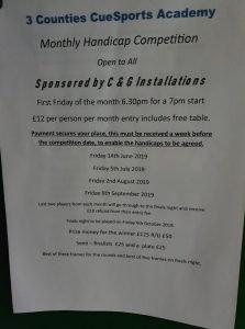 3 Counties Monthly Handicap