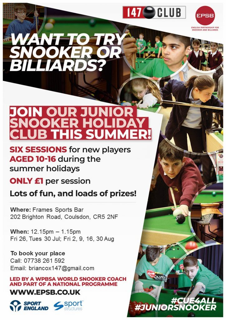 Summer Holiday Club at Frames Sports Bar