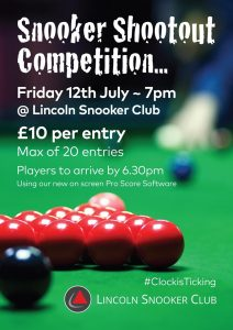 Snooker Shootout at Lincoln Snooker Club