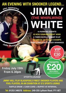 Jimmy White at Q's Sports Lounge