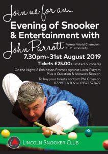 John Parrott at Lincoln Snooker Club