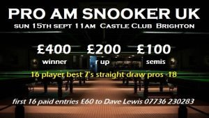 Pro-Am Snooker at The Castle Brighton