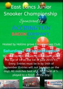 East Lancs Junior Snooker Championship