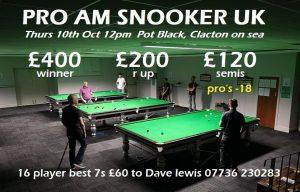 Snooker Pro-Am at Pot Black, Clacton