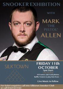 Mark allen at Slikdown Snooker Club