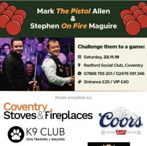 Allen and Maguire at Radford Social Club