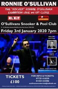Ronnie O'Sullivan at O'Sullivans Snooker and Pool Club