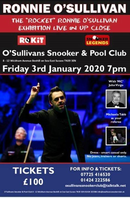 Ronnie O'Sullivan at O'Sullivans Snooker and Pool Club