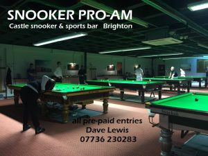 Pro-Am at Castle Snooker & Sports Bar, Brighton