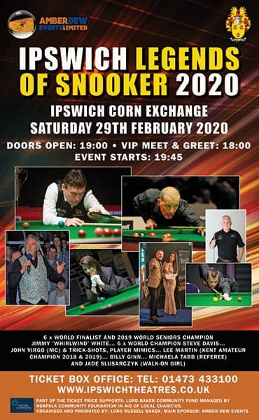 Ipswich Legends of Snooker 2020